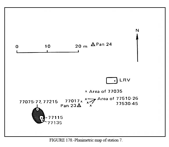 Apollo 17 Station 7 plan map
